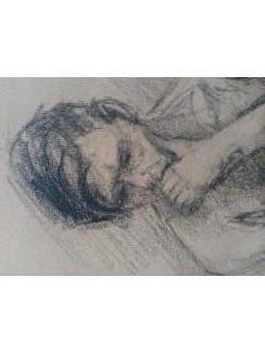 """Naakt Studie van man . H. J. van Wissen , """"De Ploeg"""" 1934"""