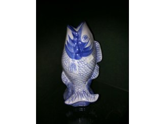 Karper vaas in delftsblauw.