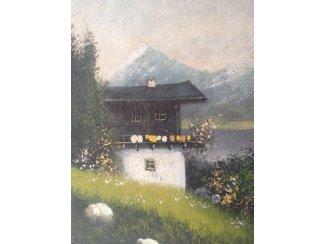 Decoratie schilderij zonder lijst.  70 X 100 cm.