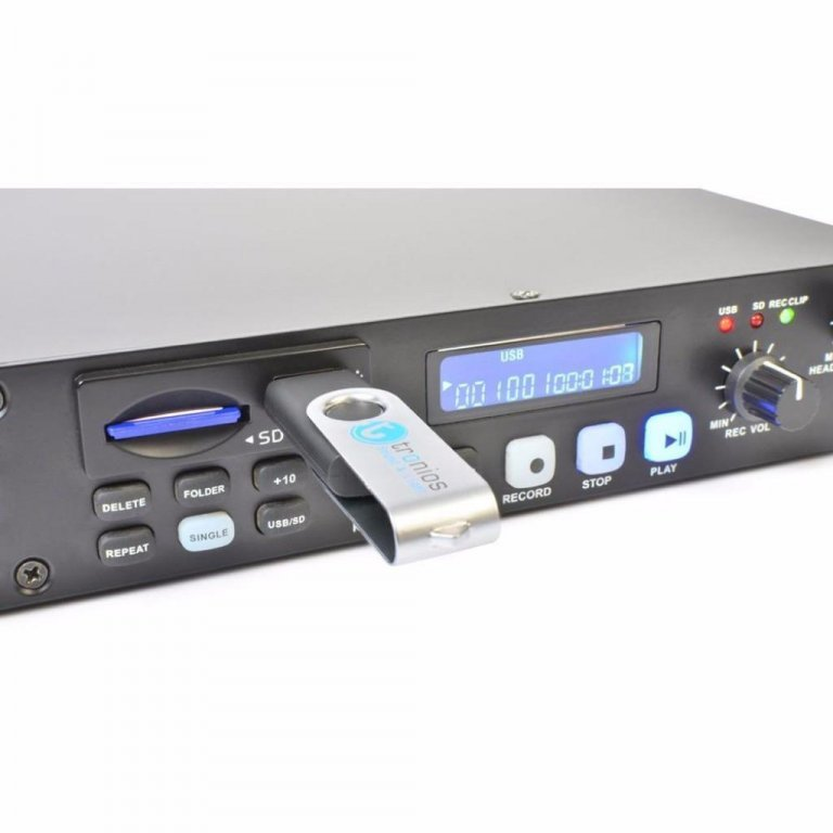 Audio-Tv- en Video-apparatuur Power Dynamics PDC-35 Digitale Recorder CD/USB/SD (824T)