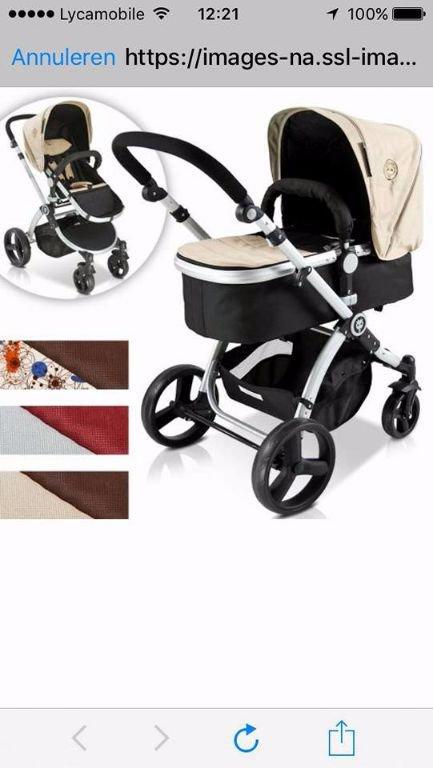 Buggy's combi baby wagen ( merk infantastic), zo goed als nieuwe, bijna !