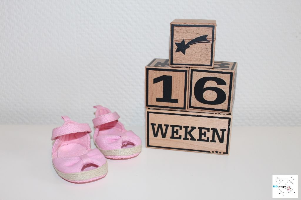 Babykamers | Accessoires Stoere houten Mijlpaalblokken XL