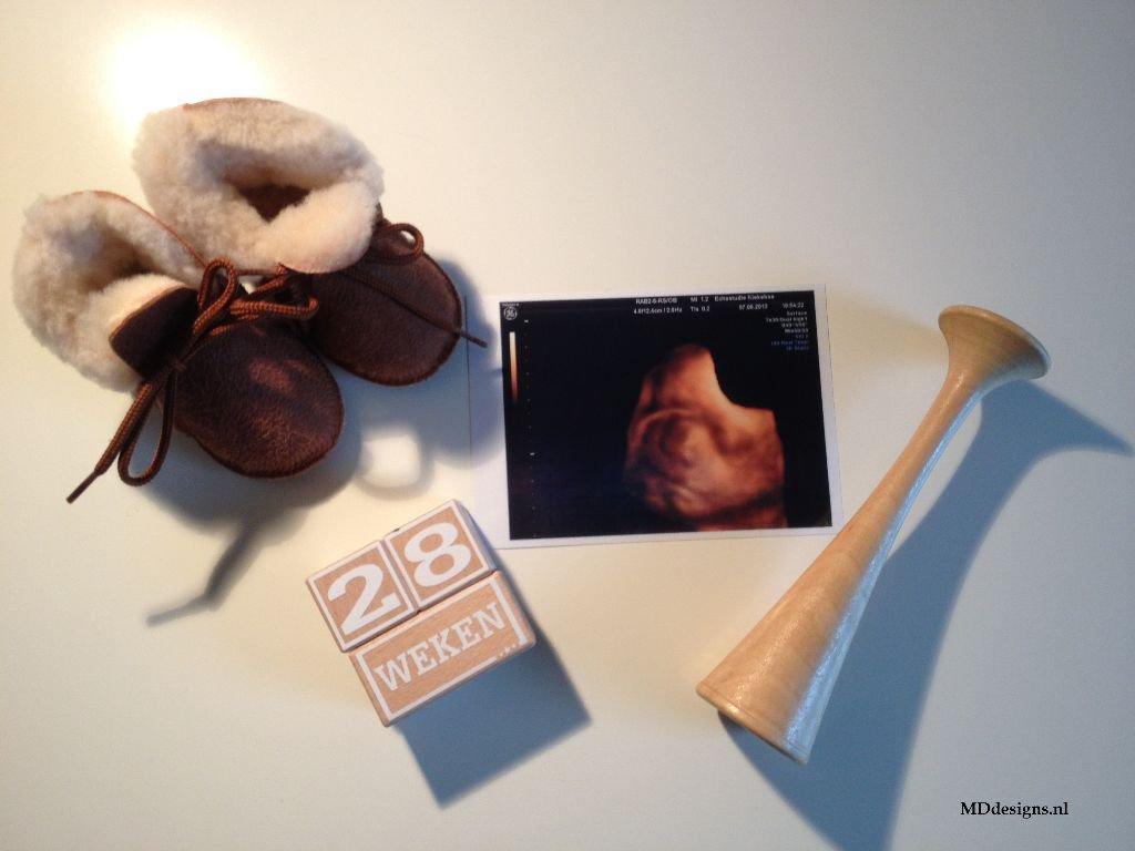 Babykamers | Accessoires Stoere houten Mijlpaalblokken S