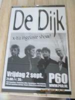 voor de fans muziek groep de dijk optreden poster origineel