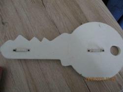 Sleutel plank voor sleutels 30 x 14 cm