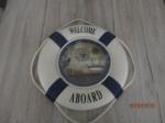 maritieme Unieke reddingsband decoratie 38 cm diameter, blau
