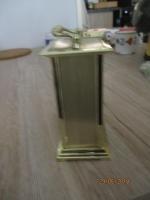 mooi leuk gouden klokje van Quartz 13 cm hoog, 8 cm breed en
