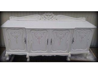 Eiken origineel dressoir met Queen Ann poten uit grootmoederstijd