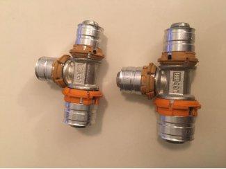 Uponor MLC perskoppeling T-stuk verlopend 20 x 16 x 16 mm