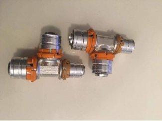 Uponor MLC perskoppeling T-stuk verlopend 20 x 20 x 16 mm