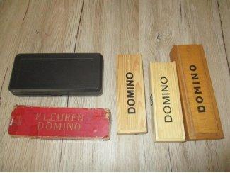 4 Domino Spellen Retro Vintage Van Vroegere Tijden