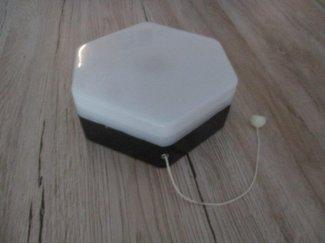 6 hoekige noodlamp op batterijen, voor in huis aan de muur