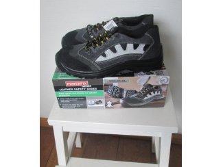 Leder werkschoenen veiligheids schoenen mt 42-44-45 laag