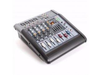 6-Kanaals Mixer met Versterker SD/USB/MP3/DSP STL6A