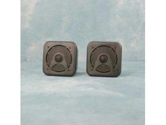 Compacte 2-weg Mini Box Luidsprekers 80 Watt zwart (B420BKJO