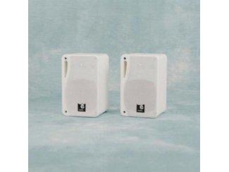 3 Weg mini speakers 13 cm 80 Watt Rms wit (B417KJO)