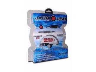 Kabel Jack Mono 6,3 mm & met USB Sound kaart (5130-B)