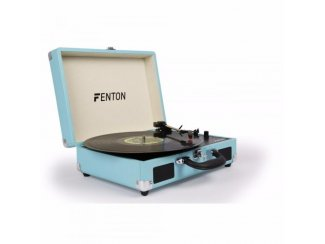 Platenspeler in koffer briefcase blauw Fenton RP115(106-T)