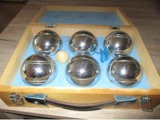 jeu de boules koffercompleet met regels en toebehoren