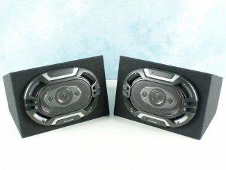 Lightning Audio 6x9 Speakers in Mdf behuizing 2x 150Watt