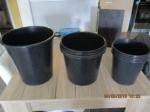 10 tuin/huis bloem over potten plastiek zwart + accessoires