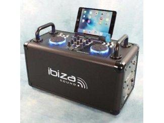 Mobiele DJ set 200 watt dubbele USB Speler, Bluetooth (2261B