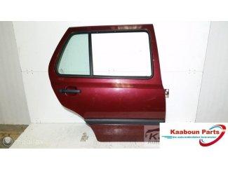 Deur / portier rechts achter rood Volkswagen Golf 3 91 - 98