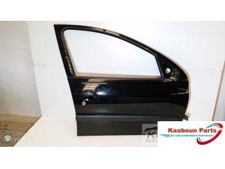 Deur / portier rechts voor zwart Peugeot 206 1998 - 2009