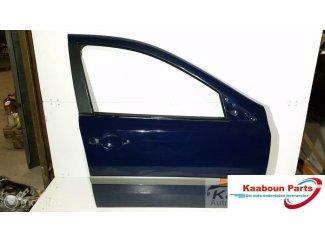 Deur / portier rechts voor blauw Renault Laguna II 2001-2007