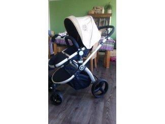 combi baby wagen ( merk infantastic), zo goed als nieuwe, bijna !