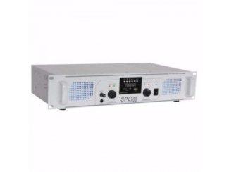 Versterker SPL 700MP3 blauwe LED + EQ Wit (777-T)