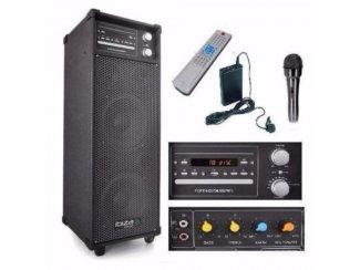 Mobile set voor les enz met draadloze opsteek microfoon,