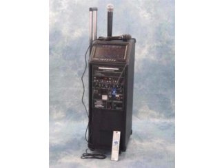 Mobile karaoke set met Dvd scherm ,draadloze microfoon