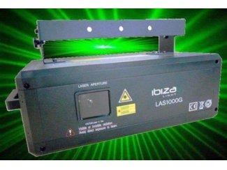 GROENE DISCO LASER MET DMX Met ILDA 1000MW (1153-B)
