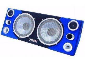 Boombox 2x 12 Woofer, blauwe LED-verlichting,