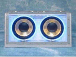 Band Pass Subwoofer 500 Watt met blauwe neon (21A-E)