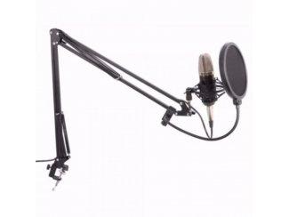 Condensator microfoon met tafel arm en popfilter