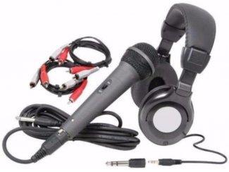 Complete set van de belangrijkste accessoires voor dj's,