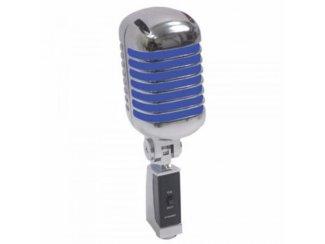 Retro Styl Zang microfoon Zilver/Blauw