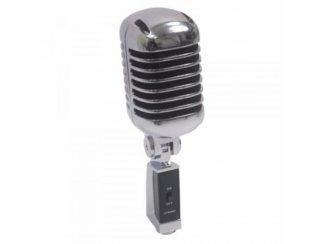Retro Styl Zang microfoon Zilver/Zwart