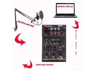 Studio microfoon met Usb mixer voor opname No-3