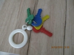 speelgoed, vintage jaren 70 sleutel bos plastiek voor kind
