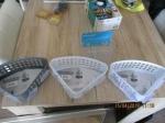 Badkamer items, mandjes met zuignap 4 stuks