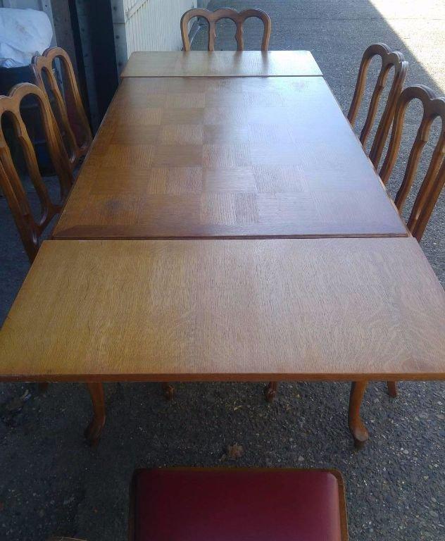 Queen anne eettafel tafel met 6 stoelen j meubels - Eettafel met stoelen ...
