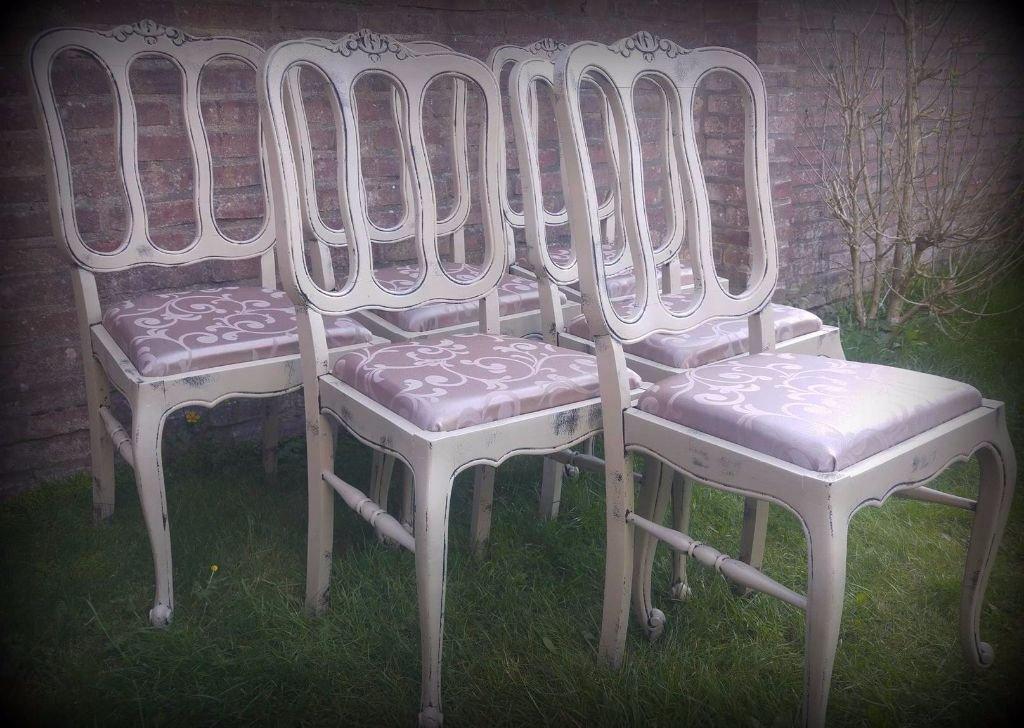 Schitterende landelijke brocante queen ann eettafel met 6 stoelen meubels keuken bar - Kitchenette met stoelen ...